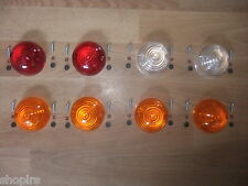 Land Rover Series 2a 3, red stop tail, indicator, side lens set 8 pcs + Screws