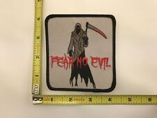 Fear No Evil Patch Grim Reaper Death embroidered biker vest iron on sew on new