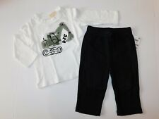 NWT First Impressions Baby Boy 2 Pc Set Digger T-Shirt/Sweatpants New 6-9M 24M