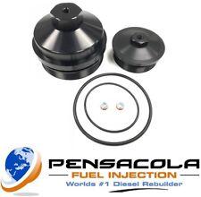 03-07 6.0L Ford Powerstroke Diesel Billet Engine Oil and Fuel Filter Caps (3682)