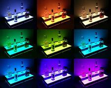 LED Lighted Bar Stand, Liquor Bottle Display Shelving Unit Organizer 2 Tier