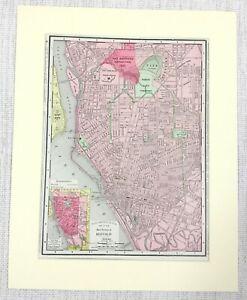 1901 Antique Map of Buffalo New York Street Plan United States of America USA
