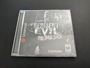 Resident Evil 3 Nemesis Capcom Sega Dreamcast EX+NM cond disc COMPLETE-wd!