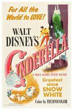 "VINTAGE DISNEY MOVIE POSTER - CINDERELLA 8.5"" x 11"""