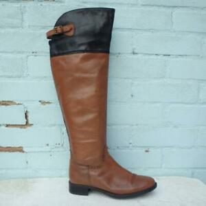 Ravel Leather Boots Size UK 5 Eur 38 Womens Shoes Pull on Brown Boots