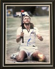 Bjorn Borg Stunning Hand Signed Bespoke Framed Tennis Photo Display & AFTAL COA