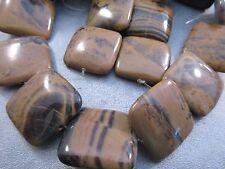 Texas Yellow Jasper Square Beads 16pcs