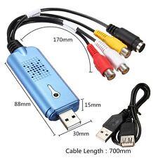 Easycap USB 2.0 video audio Capture Carte RCA pour Windows XP 7 / 8 /10 NTSC PAL