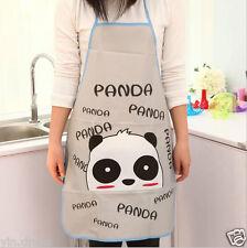 Waterproof Oleophobic Apron Women's Kitchen Cooking Dress Girls Panda Pattern #