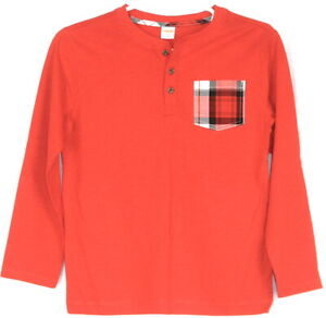 Gymboree Brand New Red Preppy Long Sleeve Knit Shirt Plaid Pocket 10 NWT BTS!