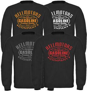 Gasoline Herren Sweatshirt Pullover V8 US Car Hotrod Oldtimer Hoodie schwarz