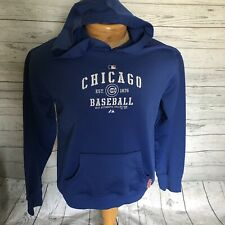 Chicago Cubs Hooded Sweatshirt Youth Size XL Boy Girl Unisex, Blue And White