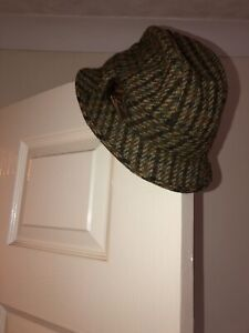 Failsworth Hat Trilby Designer Hat With Feather Tartan Tweed Plaid Style67/78 56