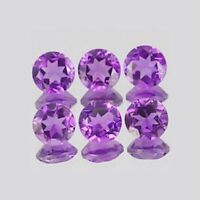 AMAZING 15 PCS NATURAL LOT AMETHYST 5X5 MM ROUND FACETED CUT LOOSE GEMSTONE