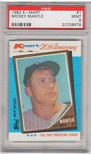 1982 Topps K-Mart MICKEY MANTLE #1 PSA 9 Mint - NY New York Yankees KMART MVP