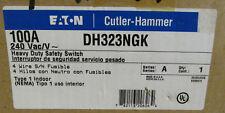 Cutler Hammer DH323NGK 100 Amp 240 Volt NEMA Type 1 - New in box