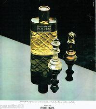 PUBLICITE ADVERTISING 036  1977  Rochas  eau toilette Monsieur