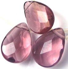 18x13mm Amethyst glass Quartz Faceted Brioletter Beads (10)