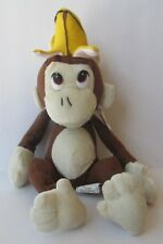 "KING BANANA CROWN MONKEY 9"" PLUSH DOLL, Nanco"