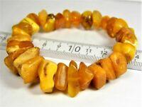 Old butterscotch egg yolk Baltic Amber bracelet 23 grams vintage 3082