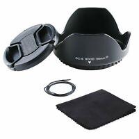 58mm Reversible Lens Hood + 58mm Lens Cap & cloth for Canon 18-55mm  DSLR Camera
