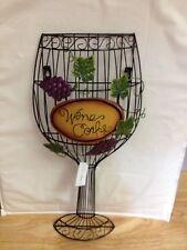 Metal Wine Glass Cork Holder New In Box