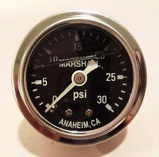 "Marshall Gauge 0-30 Psi Fuel / Oil Pressure Black 1.5"" Diameter (Liquid Filled)"