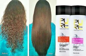 Brazilian Keratin 5% Shampoo Set Straightening Repairing Damaged Frizzy Hair 2pc