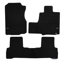 LUKHO002 TAILORED Black floor Car Mats with logo HONDA CR-V CRV 2006-2012 3pcs