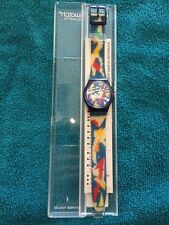 RARE Swatch Watch Silver Patch Gn132 - New