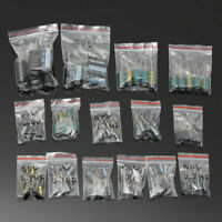 120pcs 50V 15 Values 1uF-2200uF Assorted Electrolytic Capacitor Assortment Kit
