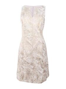 Connected Women's Floral-Print Metallic Dress
