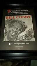 Bill Cosby Live A Little Laugh A Lot Rare Original Promo Poster Ad Framed!