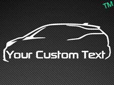 BMW i3 Texto Personalizado Pegatina De Coche Personalizado de vehículo eléctrico de la etiqueta del vinilo