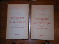 L'entreprise et la statistique 2 vol. R. Dumas - Dunod 1959 L1