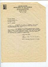 Lew M Williams Secretary Territory Of Alaska Signed Autograph TSL