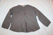 ORIGINAL  NORO  Top Patch Gaz laine coton gris taupe 10  ans neuf