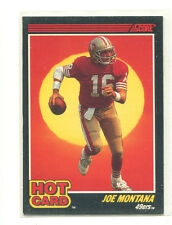 1990 Score Hot Cards #1 Joe Montana San Francisco 49ers