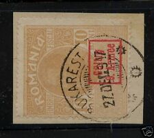 Romania fiscal stamp used on piece