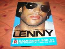 LENNY KRAVITZ BOOSTING!!!!!!!!!!!!RARE FRENCH PRESS/KIT
