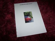 Catalogue / Brochure BMW Serie 3 berlines / 3 Series Sedan 1992 //