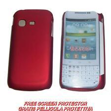 Pellicola + custodia BACK cover ROSSA per Samsung Galaxy Chat B5330