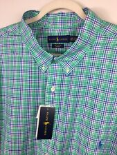 Mens Polo Ralph Lauren 4XB 4XL Big Tall Shirt Mint/Pink Button Down NWT $98.50