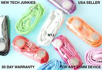 3.5mm Headset earphone headphones Stereo In-Ear for mp3 iPod iPhone 3 4s 5 6 mic