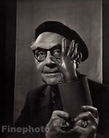 1965/83 Vintage 11x14 MAN RAY Modernist Artist Painter Photo Art By YOUSUF KARSH