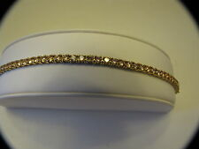 BELLA LUCE CHAMPAGNE DIAMOND SIMULANT TENNIS BRACELET