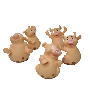 Wee Little Piggies Replacement Pig Set of 5 Pieces Hasbro 2001