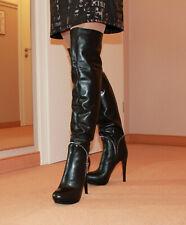 Hohe High Heels Stiefel Made in Italy Damen Männer Boots EU42 UK8 US11 14cm