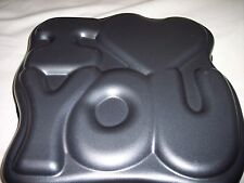 "Cake Pan, ""ILove You"", Non-Stick, 11"" x 10"" x 2"" Great for Valentines Day"