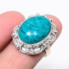 Lab-Created Santa Rosa Turquoise Gemstone Handmade Jewelry Ring  US Size 8 1980